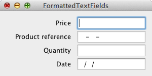 Formatted text fields