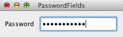 Password field example